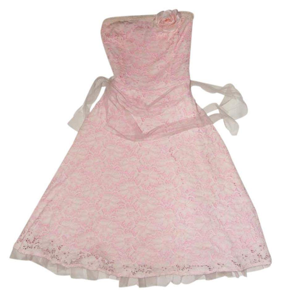 Arden B Pink Cocktail Prom Mid Length Night Out Dress Size 4 S