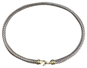 David Yurman buckle bracelet with 18k gold