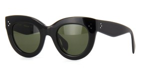 Cline NEW Celine Sunglasses 41050/S Caty Black Cat Eye