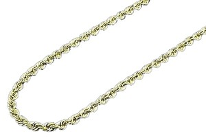 Other Mens,110th,10k,Yellow,Gold,Rope,22,Chain,4.25mm,Hollow,Link,Necklace