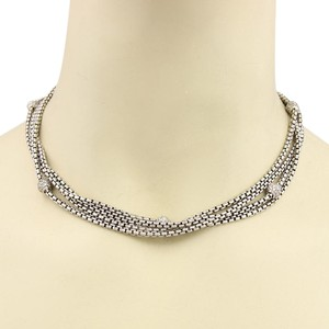 David Yurman Diamonds 18k Gold & Sterling Multi-Strand Chain Necklace