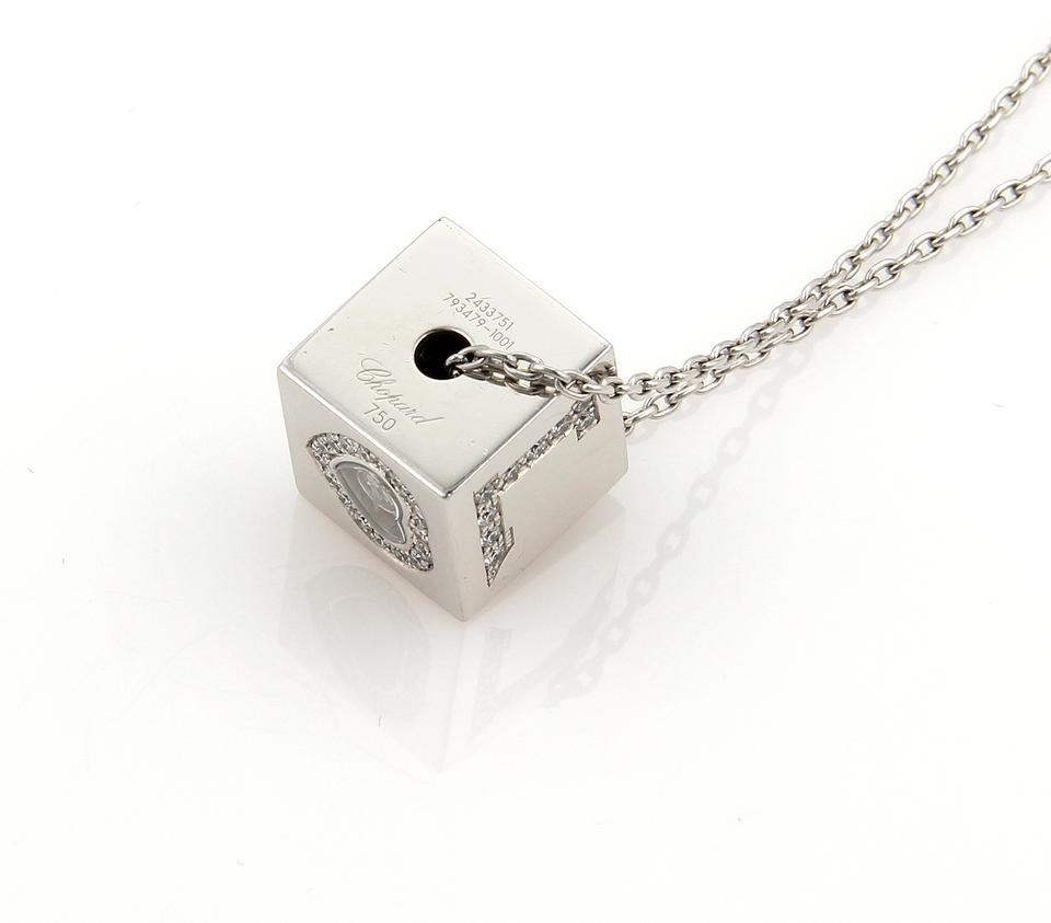 Chopard white gold 18328 diamond love ice cube 18k pendant 12345678 mozeypictures Gallery