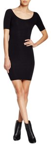 American Apparel short dress BLACK Bodycon Short Sleeves on Tradesy