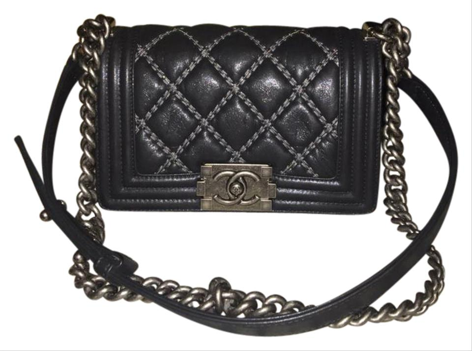 34e0496a0a3b Chanel Boy Iridescent Calfskin Embellished Double Stitch Beaded ...
