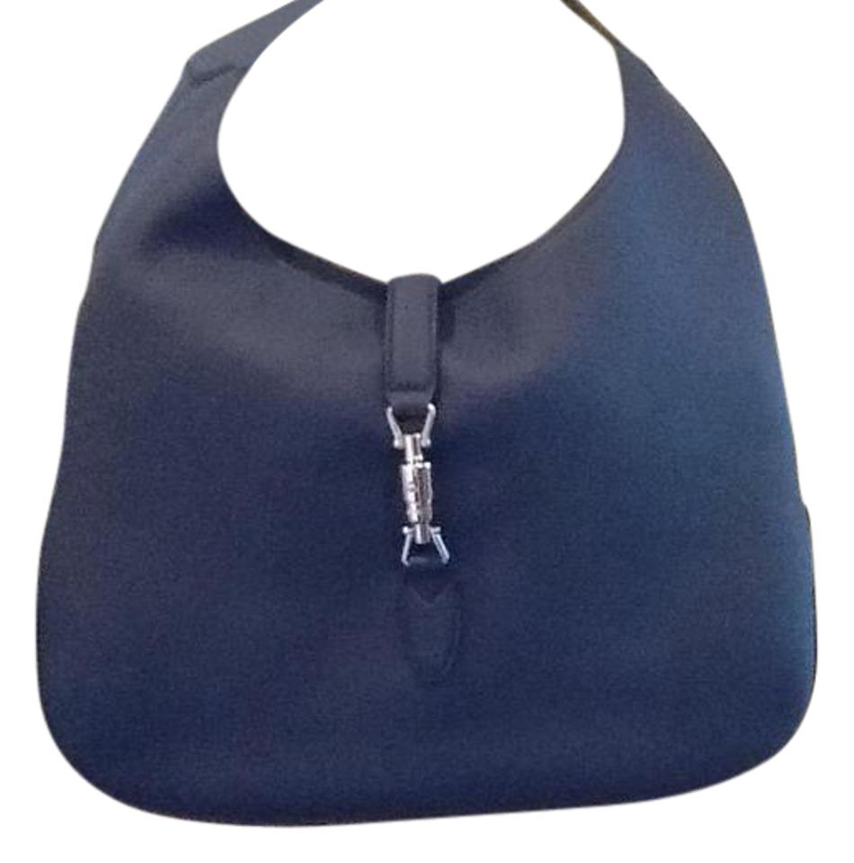 550583853f6d3 Gucci Jackie Soft Leather Navy Blue Hobo Bag - Tradesy