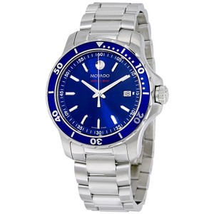 Movado Movado Series 800 Blue Dial Stainless Steel Authentic Mens Watch