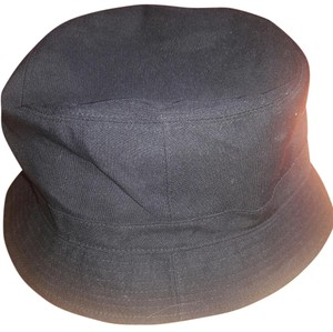 Coach Classic Bucket Hat Black With Leather Trim Zip Pocket On Back