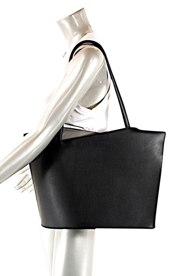 68168d6d41c Wave Structured W/Angled Top + Black Leather Tote - Tradesy