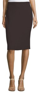 EILEEN FISHER Wool Crepe Pencil Pull On Skirt CLOVE