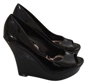 Jessica Simpson Black Patent Wedges