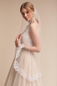 BHLDN Ivory Medium Visionary Fingertip Bridal Veil