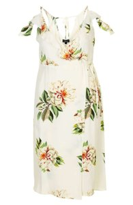 Cream Floral Maxi Dress by Topshop
