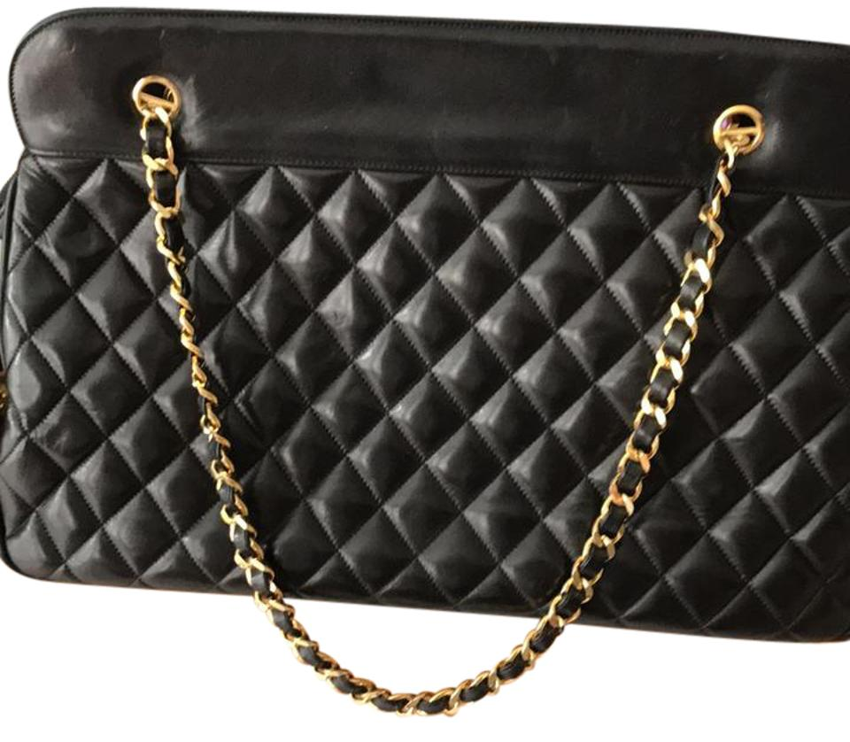 78eededecedf Chanel Vintage Quilted Black Soft Leather Shoulder Bag - Tradesy