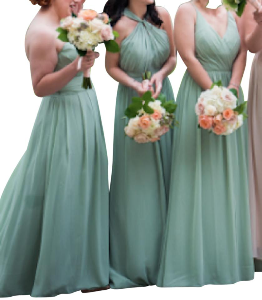 5bafca6dd6b Bill Levkoff Pistachio Chiffon 1274 Formal Bridesmaid Mob Dress Size 2 (XS)  Image ...