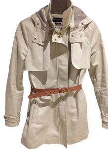 59c5fe144eec6f Massimo Dutti Parka Trench Belted Off White Jacket