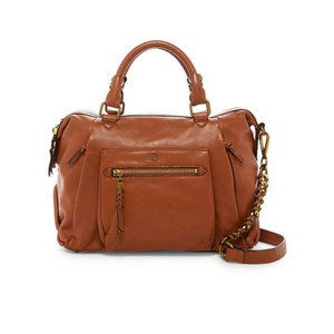 Elliott Lucca Leather Gold Shoulder Bag
