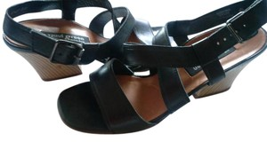 Paul Green Leather Crisscross Strap Strappy Black Sandals