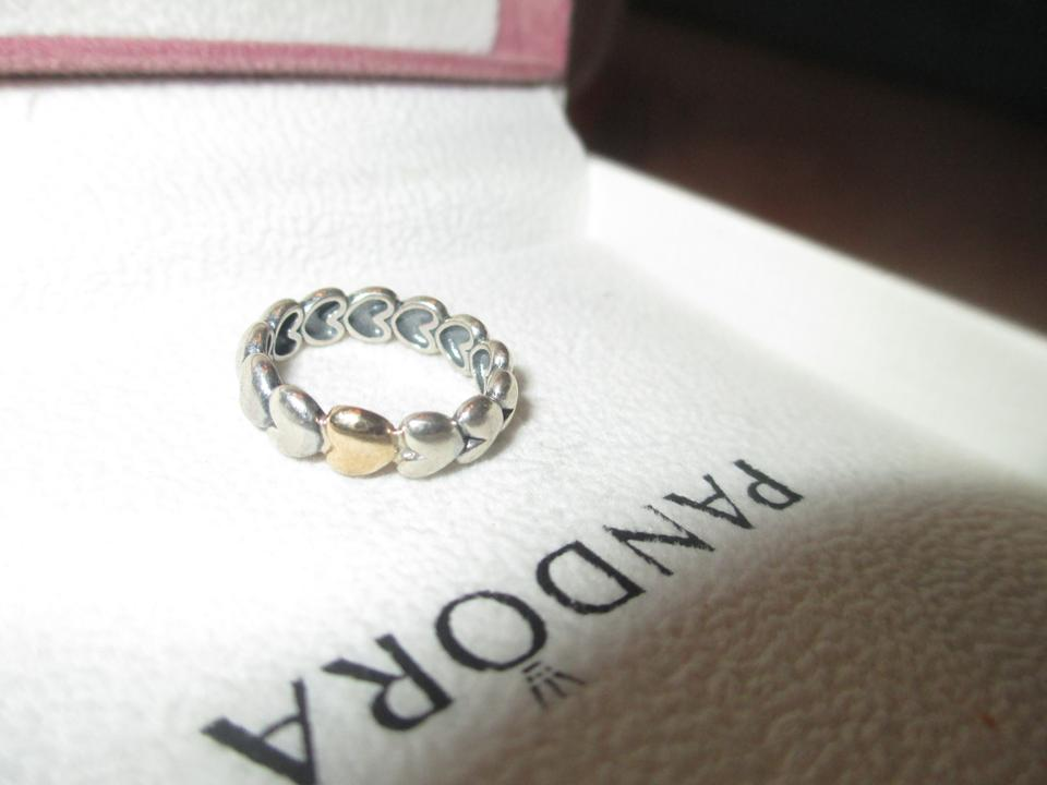f38f6170c PANDORA Authentic Pandora Large Heart Ring with 14K gold heart, 190898  Image 4. 12345