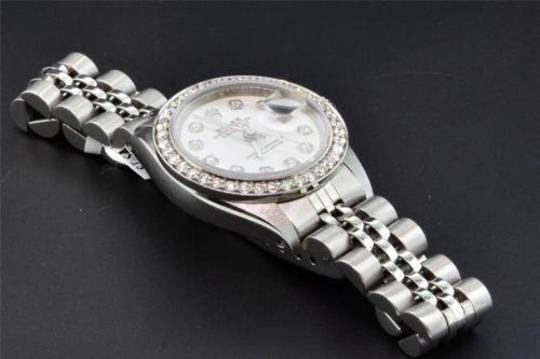Rolex Rolex,Oyster,Perpetual,Date,Just,Womens,Stainless,Steel,Diamond,Watch,