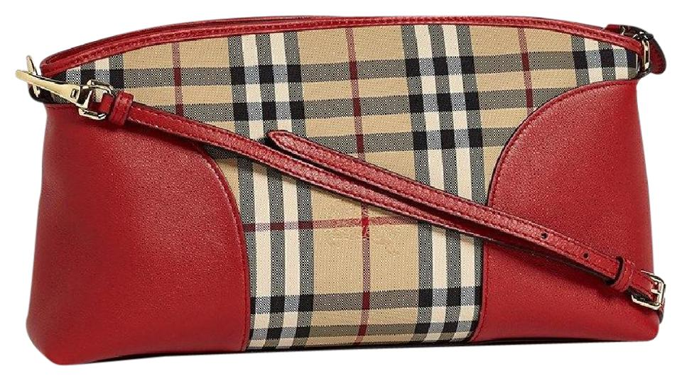 395e67230349 Burberry Chichester Horseferry Check Honey Parade Red Leather ...