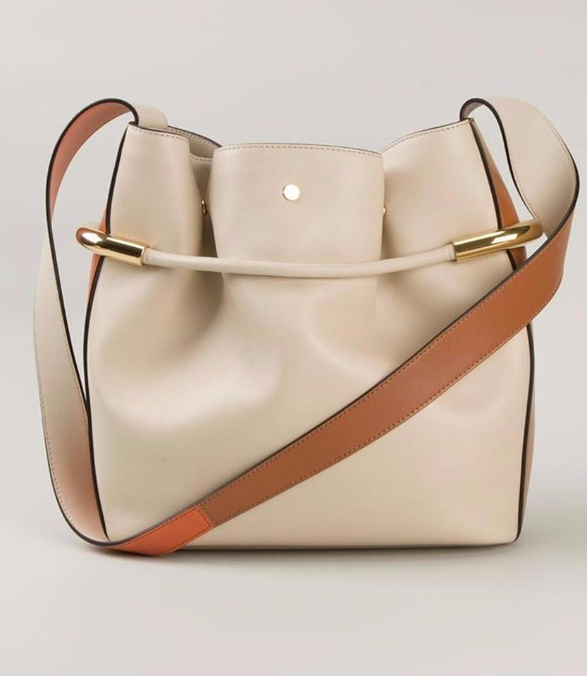 33a9305d6b23 Chloé Emma Women s Milky White Leather Shoulder Bag - Tradesy