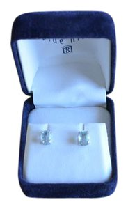Blue Nile Aquamarine Stud Earrings 14k Gold - Bluenile Brand (7mm x 5mm)