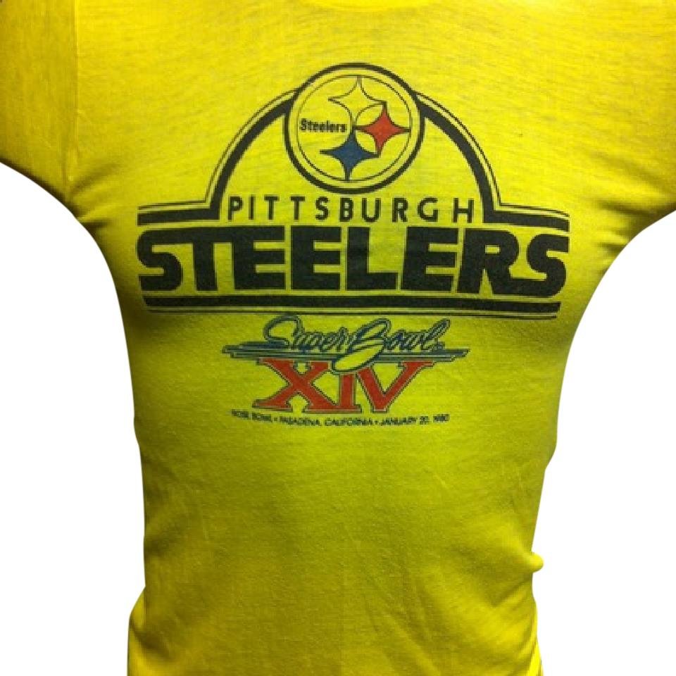 timeless design 648c0 2f8fb Multicolor Vintage Steelers Unisex Fit Retro Womens Med Mens Sm Tee Shirt  Size 8 (M)