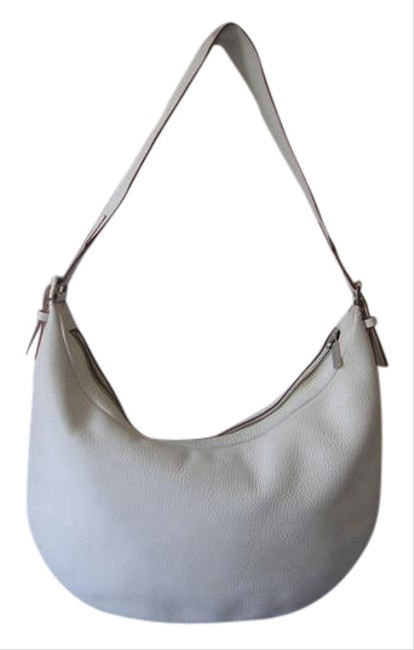 Item - Classic White Leather Hobo Bag