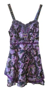 Free People short dress Purple Pink Sequins Embroidery on Tradesy