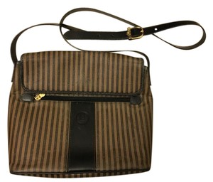 Fendi Crossbody Stripes Italian Leather Shoulder Bag