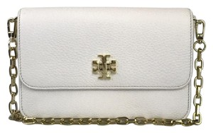 58f8531b8b69 Tory Burch Mercer White Chain Cross Body Bag