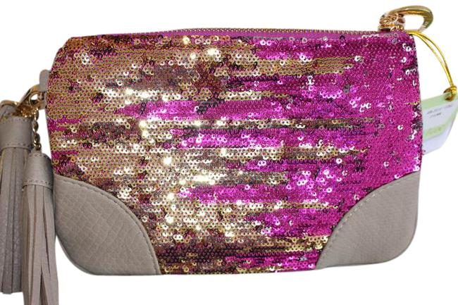 Item - Ipanema With Tassels Pink Gold Synthetic Wristlet