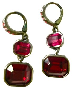Givenchy red crystal drop earrings