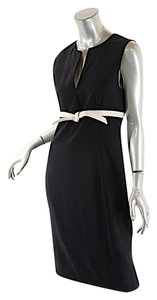 Valentino short dress Black Black/White Fleeced Wool Empire Waist on Tradesy