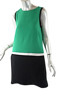 Lisa Perry short dress Green, White, Black Wool on Tradesy
