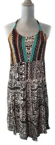 Angie short dress Multicolor Pattern Strappy Summer Bohemian on Tradesy