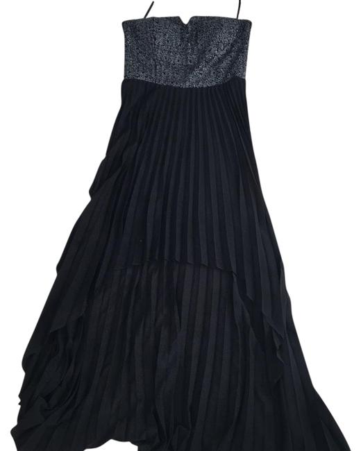 Item - Silver and Black Never Worn Mid-length Cocktail Dress Size 8 (M)