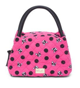 Betsey Johnson Lunch Pink Satchel Tote in Pink Black