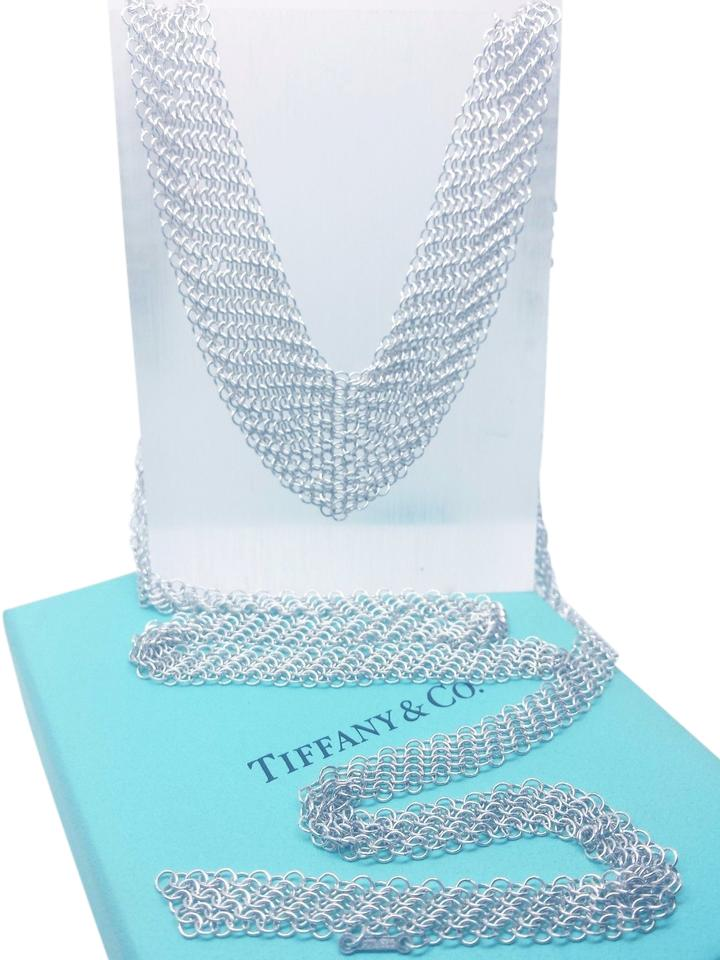 a5558ee1f Tiffany & Co. TIFFANY & CO STERLING SILVER ELSA PERETTI MESH SCARF NECKLACE  ...