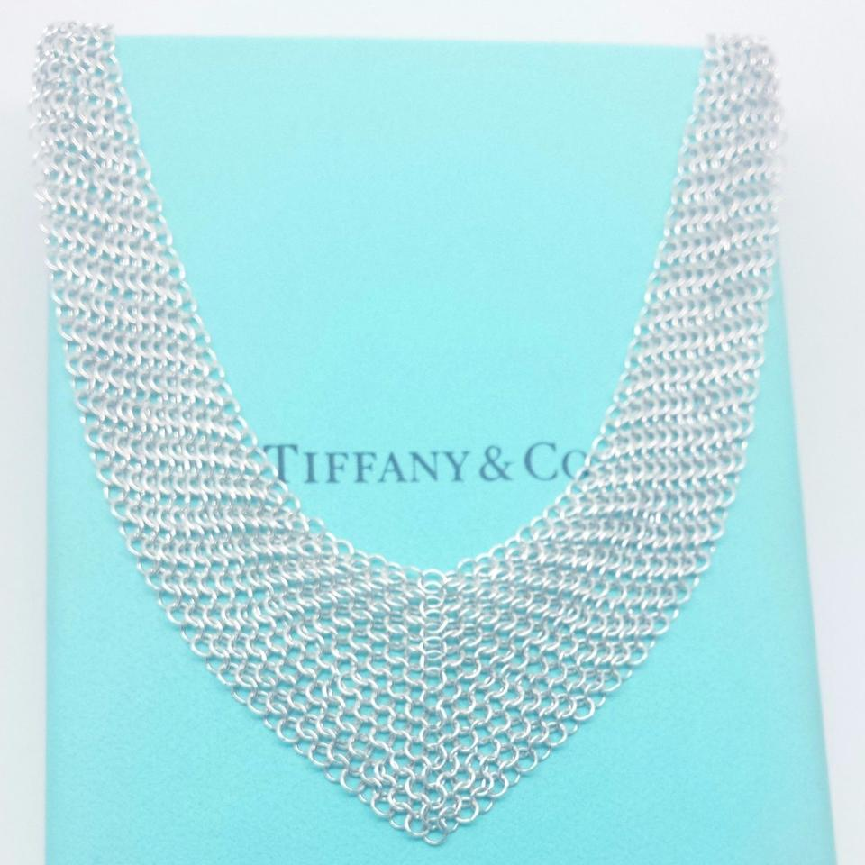 cd921eced TIFFANY & CO STERLING SILVER ELSA PERETTI MESH SCARF NECKLACE 26. 123456789