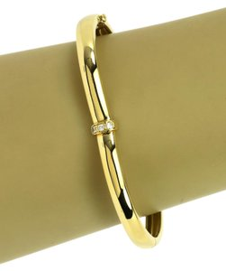Piaget Diamond & 18k Yellow Gold Heart Shape Bangle Bracelet