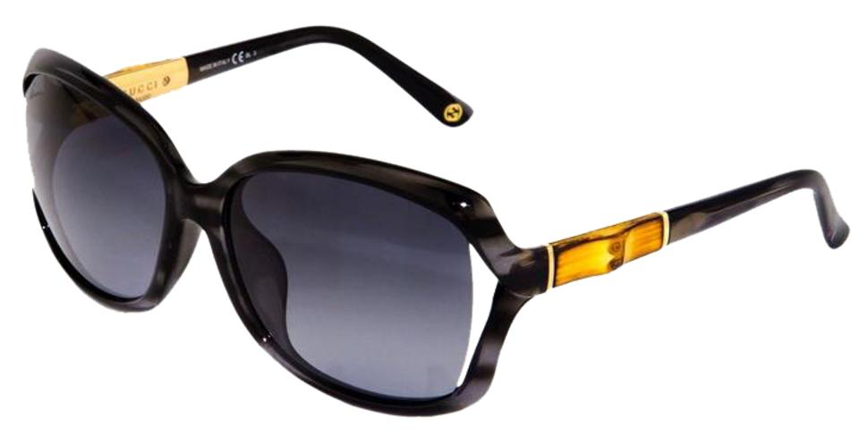 26d9f77b39 Gucci Black   Gold Horn New (Gg3685) Bamboo Designer Made In Italy  Sunglasses -