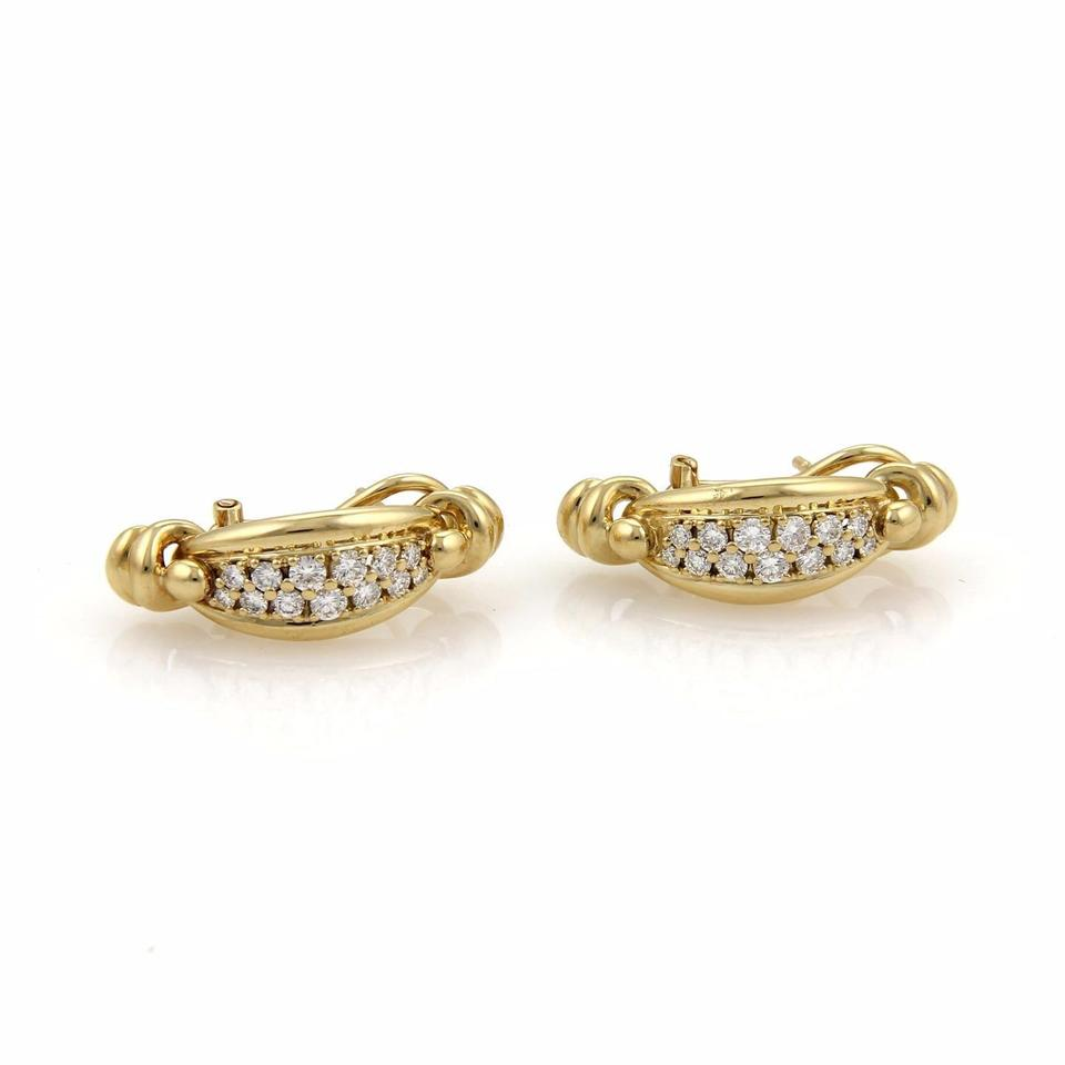 stud prongs earrings basket simulate diamond in from women item solitaire plated ct for gold piece silver earring white jewelry synthetic