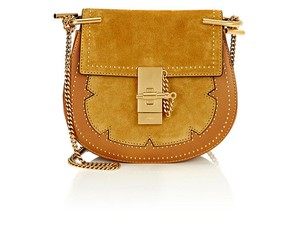 Chloé Studs Embellished Drew Suede Cross Body Bag