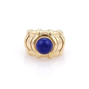 Piaget 18k Yellow Gold Interchangeable Color Gems Wide Dome Ring Size 6.5