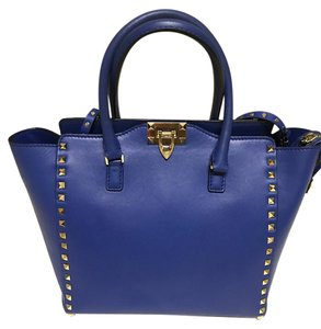 Valentino Rockstud Structured Tote in Cobalt blue