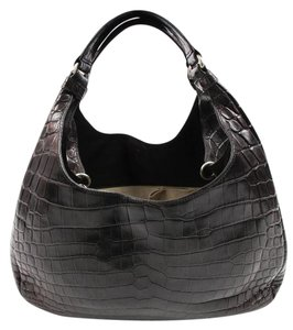 Bottega Veneta Crocodile Compana Hobo Bag