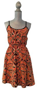 Hello Miss short dress Orange Geometric Straps Cutout Summer-casual on Tradesy