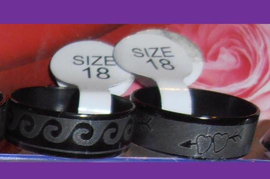 Other NWT LOOK AT PICTURES SIZE RING - YOU PICK ONE RING Fashion Jewelry Cool Design BLACK stainless steel ring