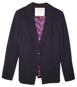 Anthropologie Ponte Modern Knit Black Blazer